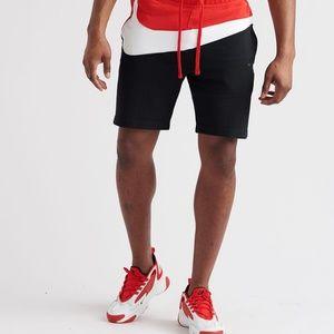 nike big swoosh fleece shorts ar3161-011 sweats